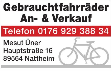 Gebrauchtfahrräder An- & Verkauf - Mesut Üner