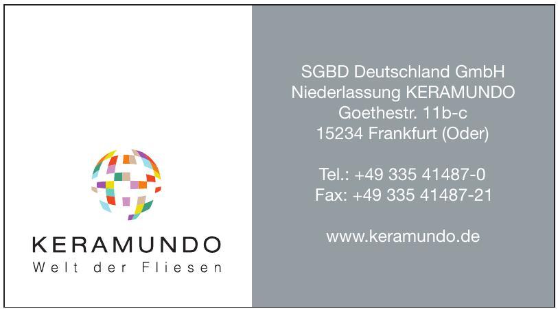 SGBD Deutschland GmbH Niederlassung Keramundo