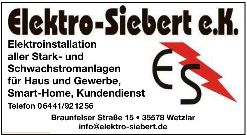 Elektro-Siebert e.K.
