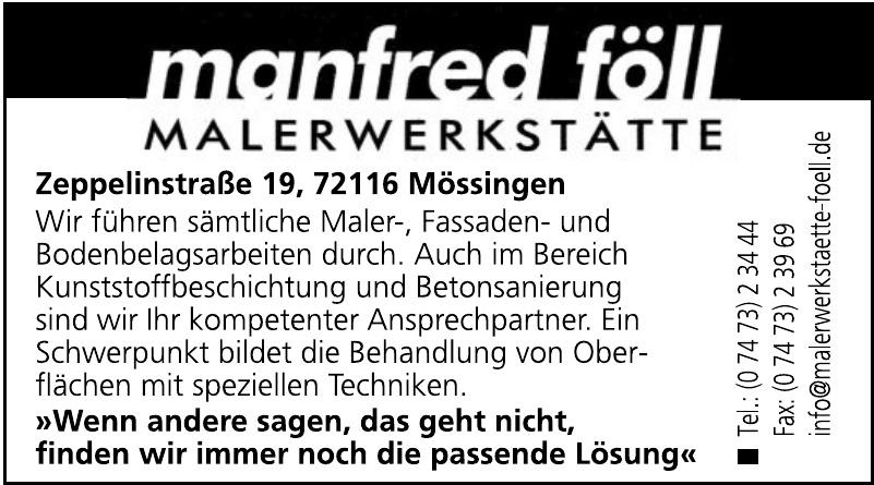 Manfred Föll Malerwerkstätte