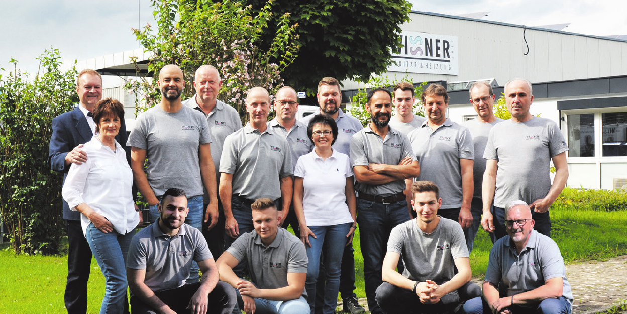 Das Team um Jürgen Wissner (ganz links) freut sich über das Jubiläum. Fotos:Firma Wissner