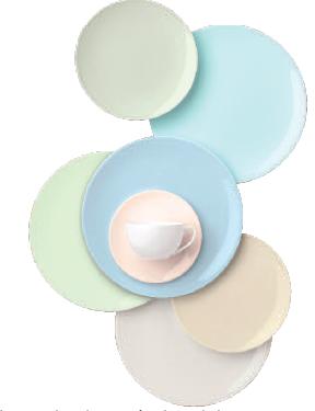 Die Pastell-Serie bietet sanfte Töne von Puder über Mint bis Sand