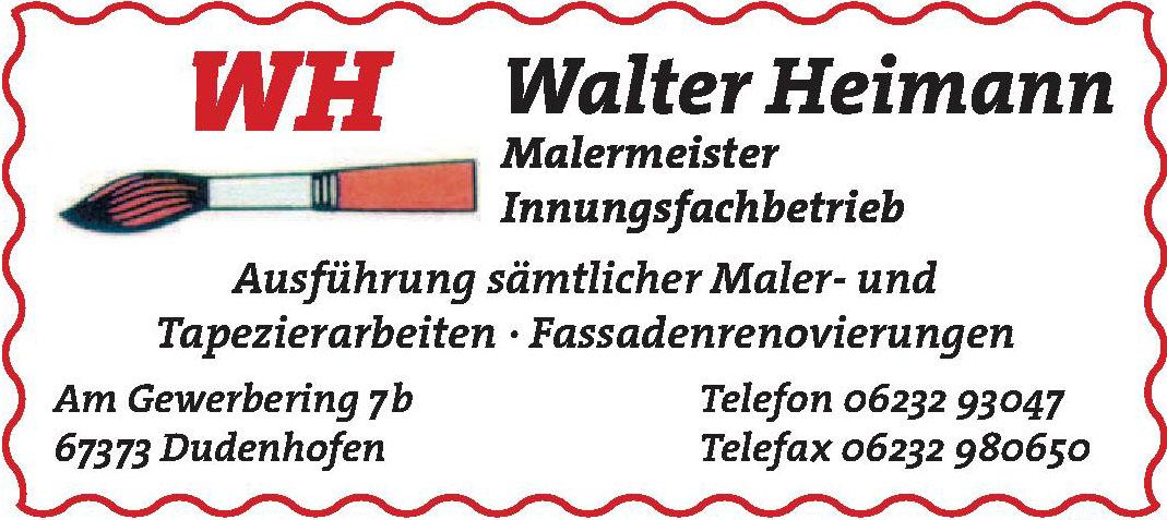 WH Walter Heimann Malermeister Innungsfachbetrieb