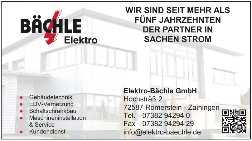 Elektro-Bächle GmbH