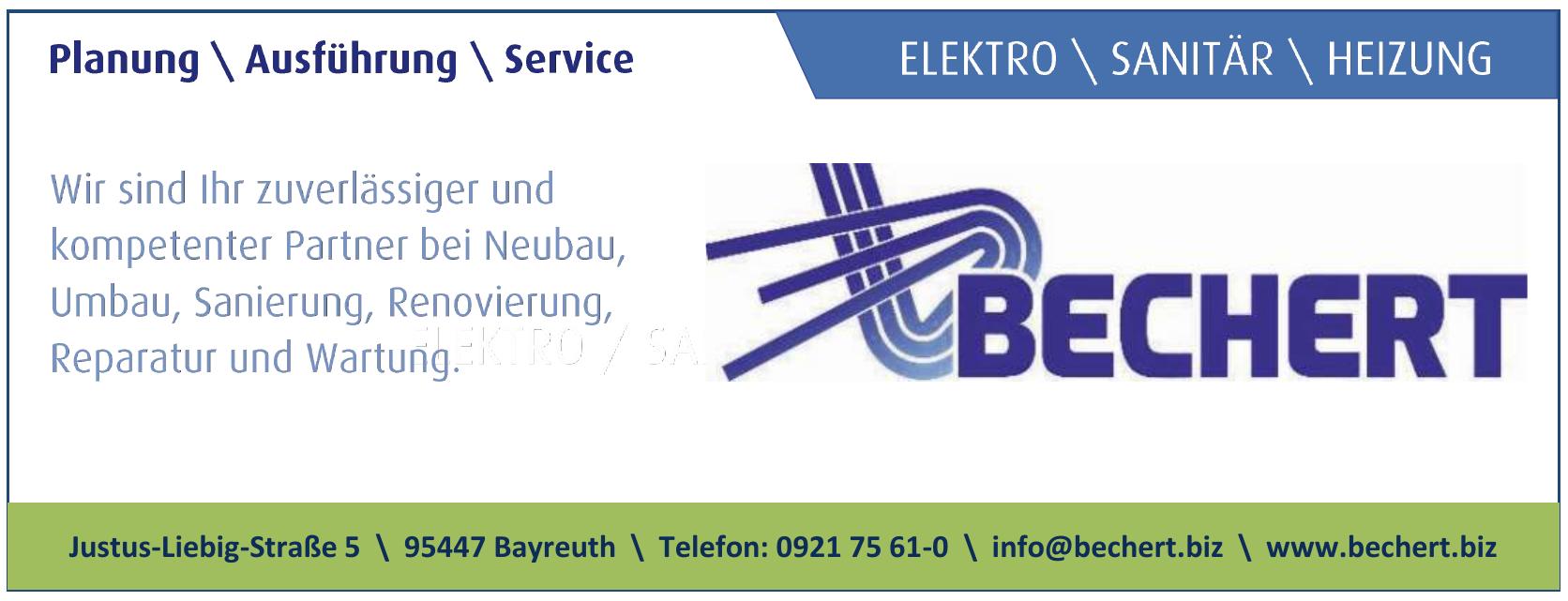 Bechert - Elektro, Sanitär, Heizung