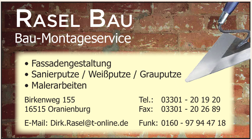 Rasel Bau Bau-Montageservice