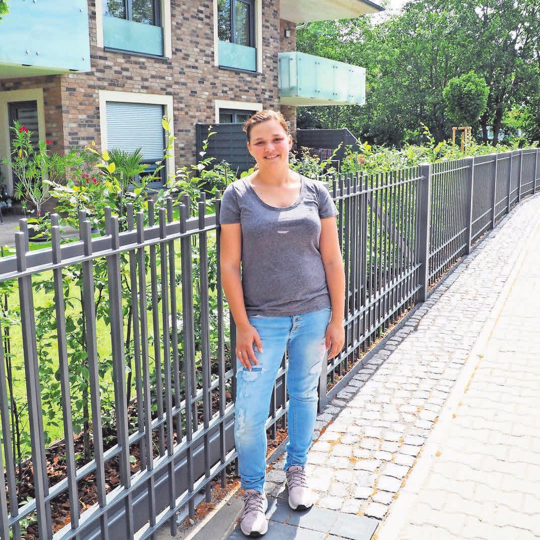 Liza Rampf schätzt an dem neuen Wohnhaus der Rampf Bau GmbH vor allem die zentrale Lage direkt an der Havel.