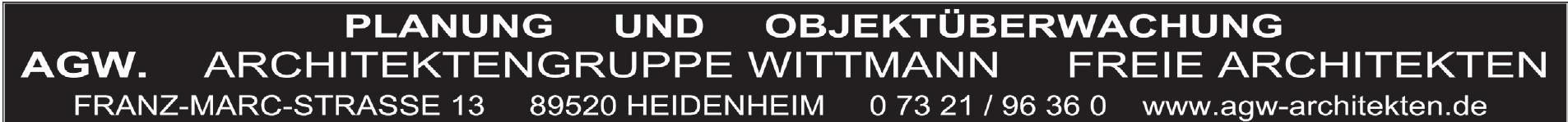 AGW. ArchitektenGruppe Wittmann