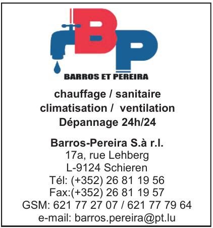 Barros-Pereira S.à r.l.