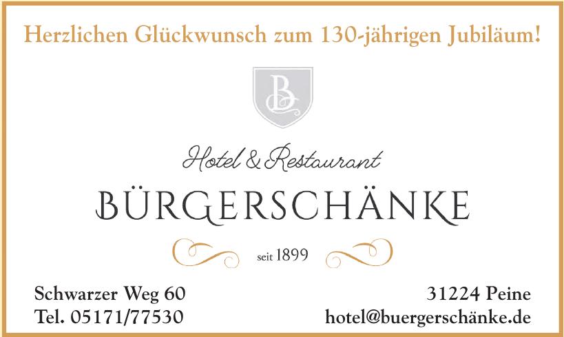 Hotel & Restaurant Bürgerschänke