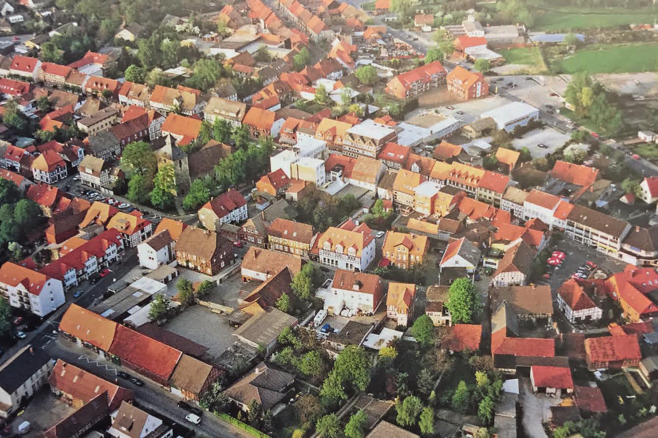 Stadtansicht Luftaufnahme.