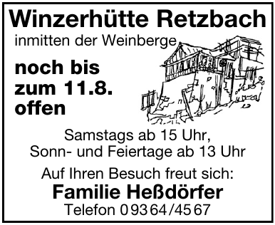 Winzerhütte Retzbach