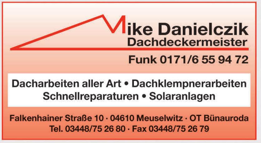 Mike Danielczik Dachdeckermeister