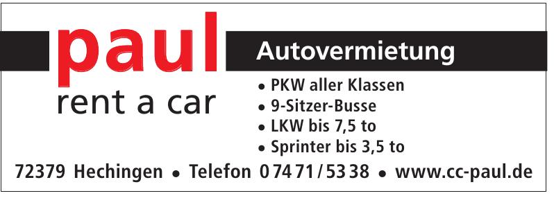 Paul Autovermietung