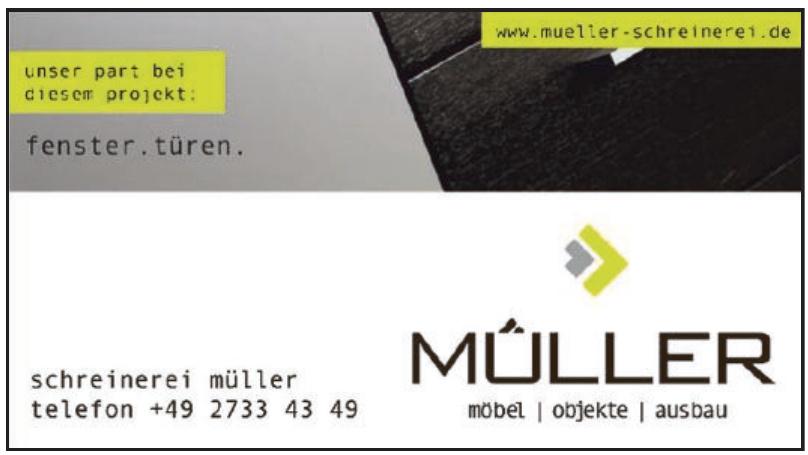 Schreinerei Müller