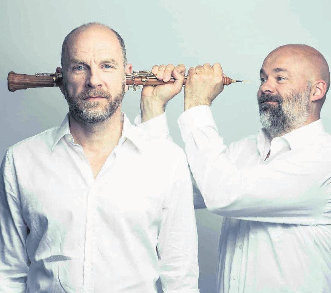 Bringen Texte des Bachmann-Preises auf die Bühne: Götz Schubert (links) und Manuel Munzlinger. Foto: mmmusic