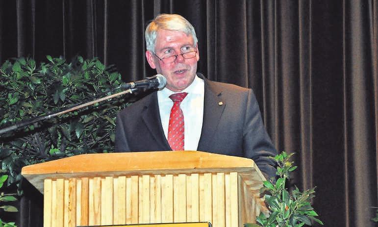 Beim Neujahrsempfang schaut Bürgermeister Carl Jürgen Lehrke auf das abgelaufene Jahr zurück.
