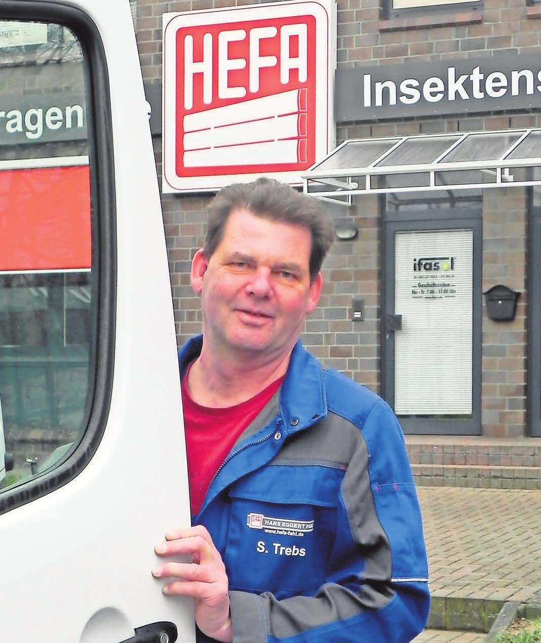 Stephan Trebs, Monteur bei HEFA, arbeitet seit über 20 Jahren hier. F: KRW