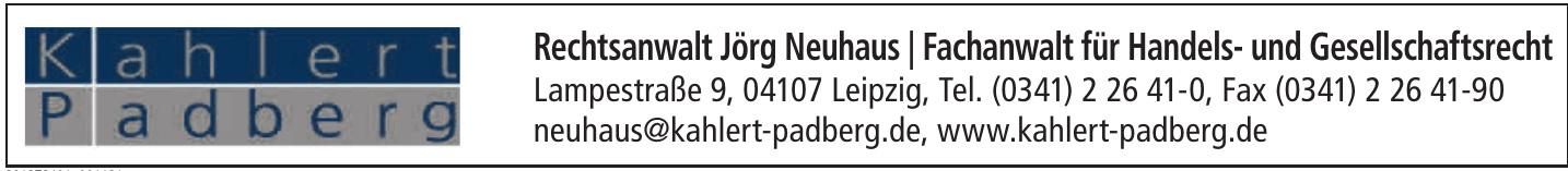 Rechtsanwalt Jörg Neuhaus / Fachanwalt für Handels- und Gesellschaftsrecht