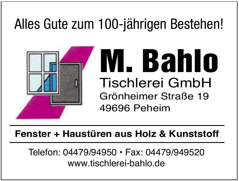 Tischlerei M. Bahlo GmbH