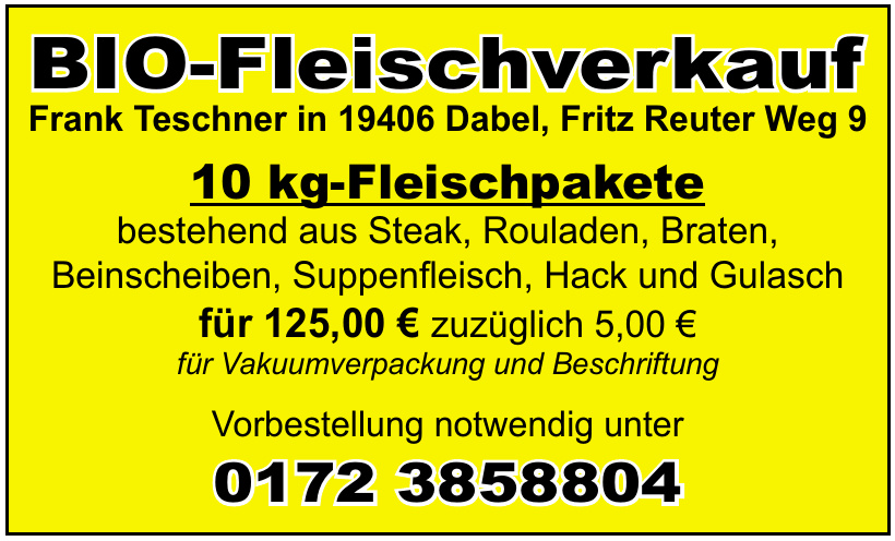 BIO-Fleischverkauf Frank Teschner