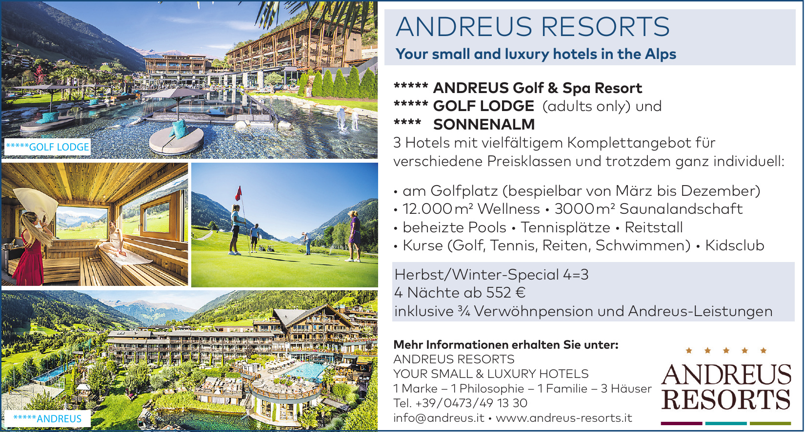 Andreus Resorts - your small & luxury Hotels