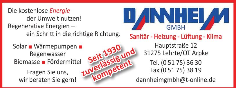 Dannheim GmbH Sanitär - Heizung - Lüftung - Klima