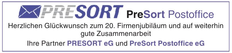 PRESORT eG und PreSort Postoffice eG