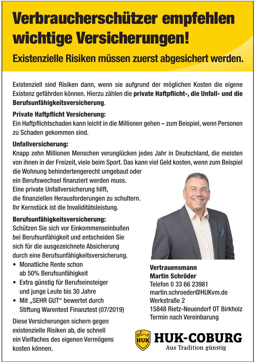 HUK-Coburg - Vertrauensmann Martin Schröder