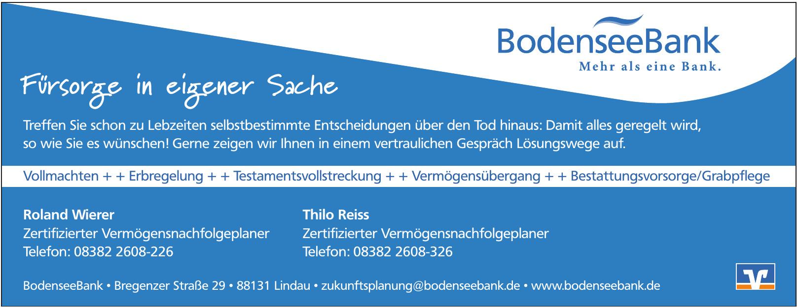 Bayerische BodenseeBank - Raiffeisen - eG