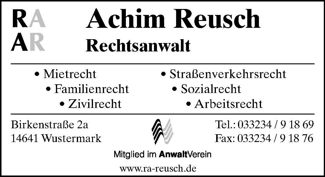 Achim Reusch Rechtsanwalt