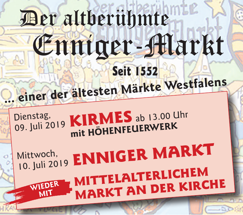 Der altberühmte Enniger-Markt