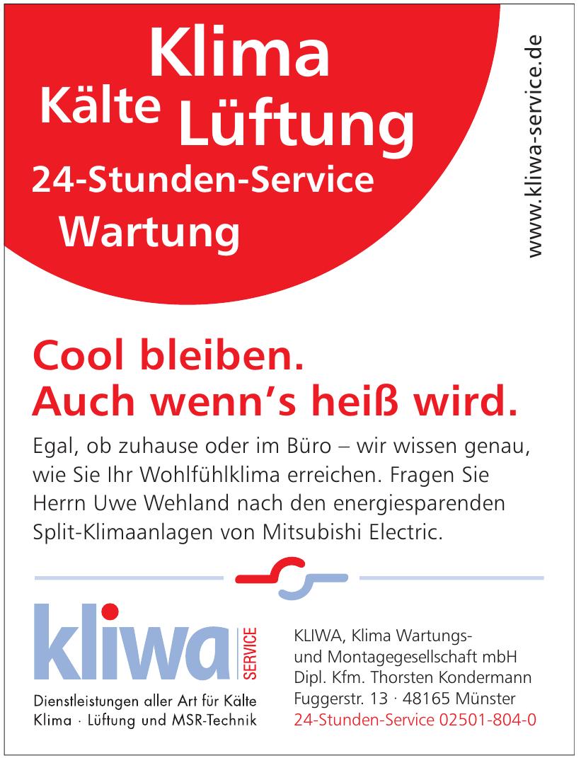 Kliwa - Klima Wartungs- und Montagegesellschaft mbH