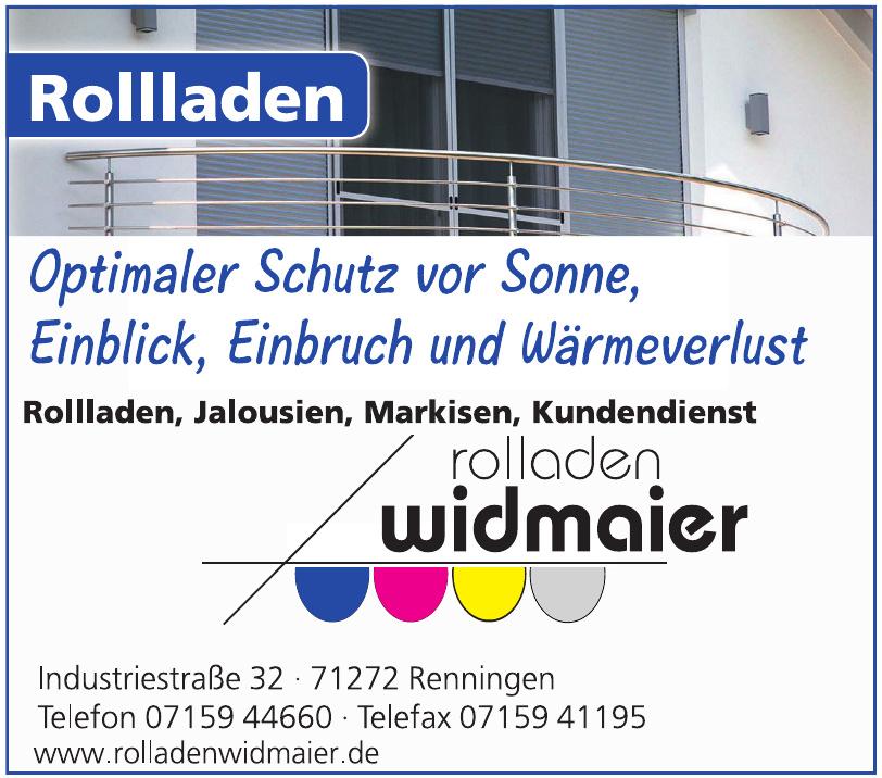 Rolladen Widmaier