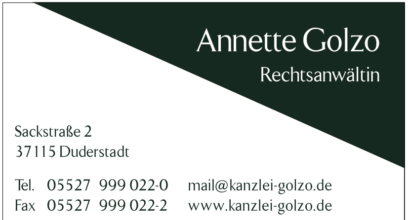Anette Golzo Rechtsanwältin
