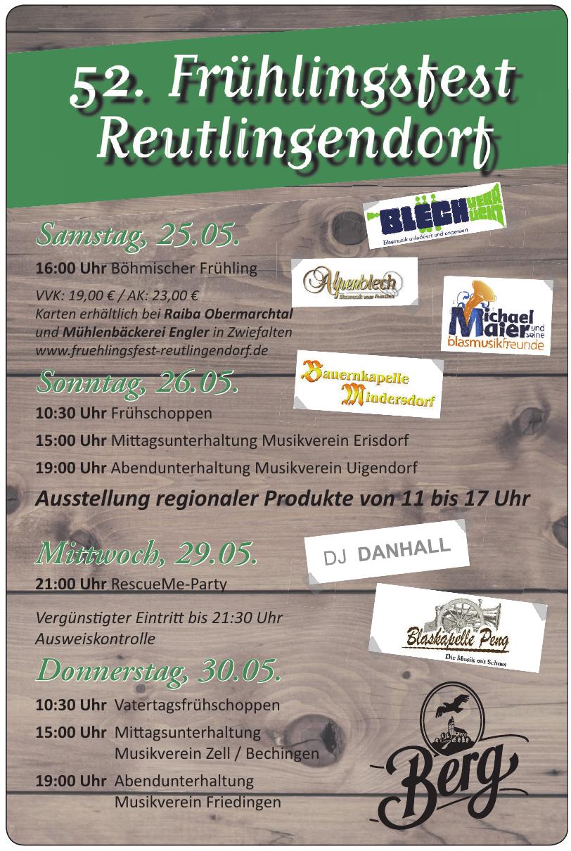 52. Frühlingsfest Reutlingendorf