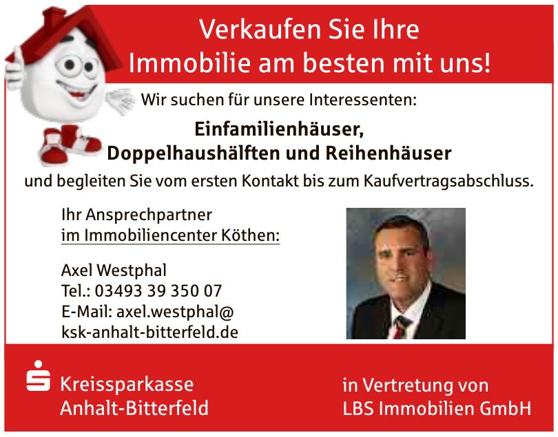 Kreissparkasse Anhalt-Bitterfeld  LBS Immobilien GmbH-Axel Westphal