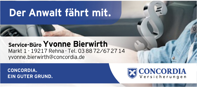 Concordia Versicherung - Service Büro Yvonne Bierwirth