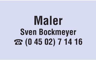Maler Sven Bockmeyer