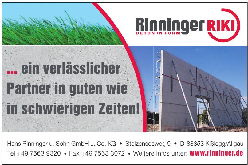 Hans Rinninger u. Sohn GmbH u. Co. KG