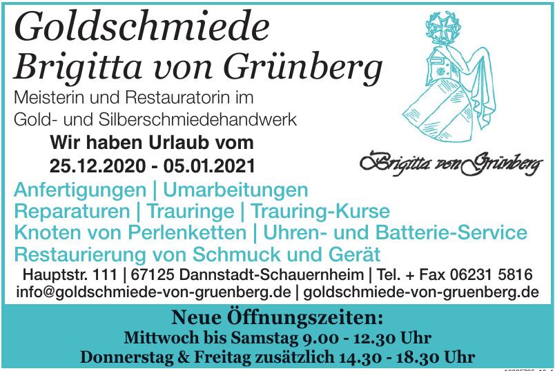 Goldschmiede Brigitta von Grünberg