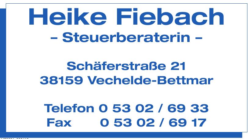 Heike Fiebach Steuerberaterin