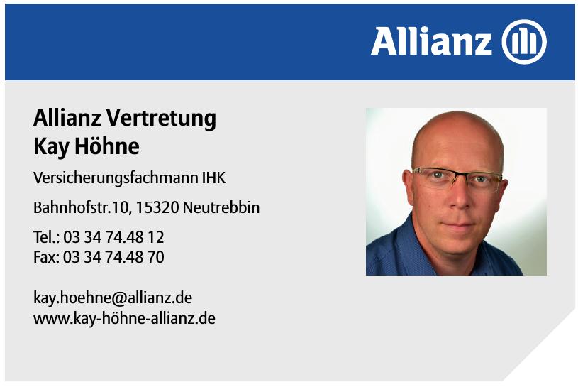 Kay Höhne Allianz Vertretung
