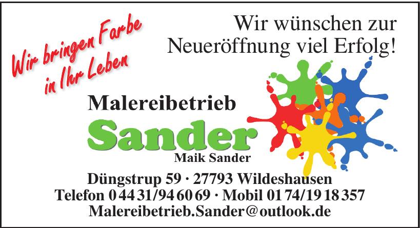 Malereibetrieb Sander