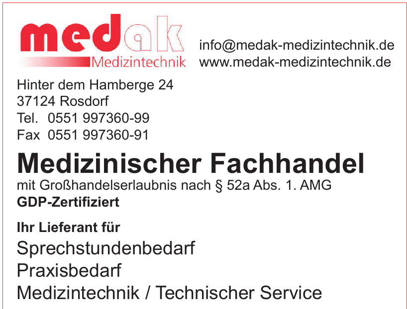 medak Medizintechnik - Medizinischer Fachhandel