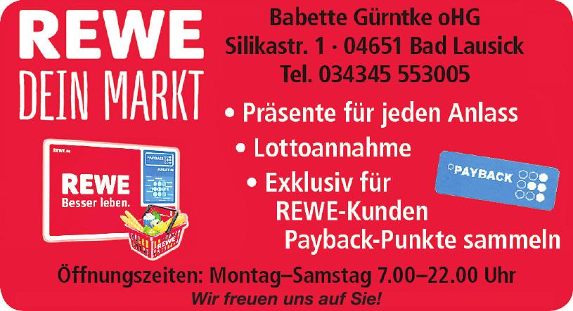 Rewe - Dein Markt - Babette Gürntke oHG