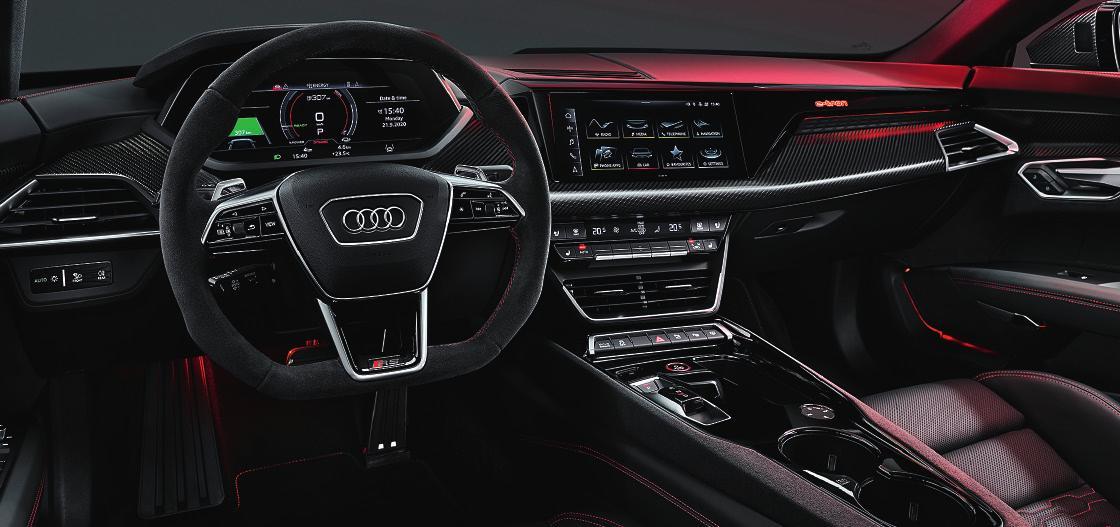Modernstes Infotainment, feinste Materialien Fotos: Audi
