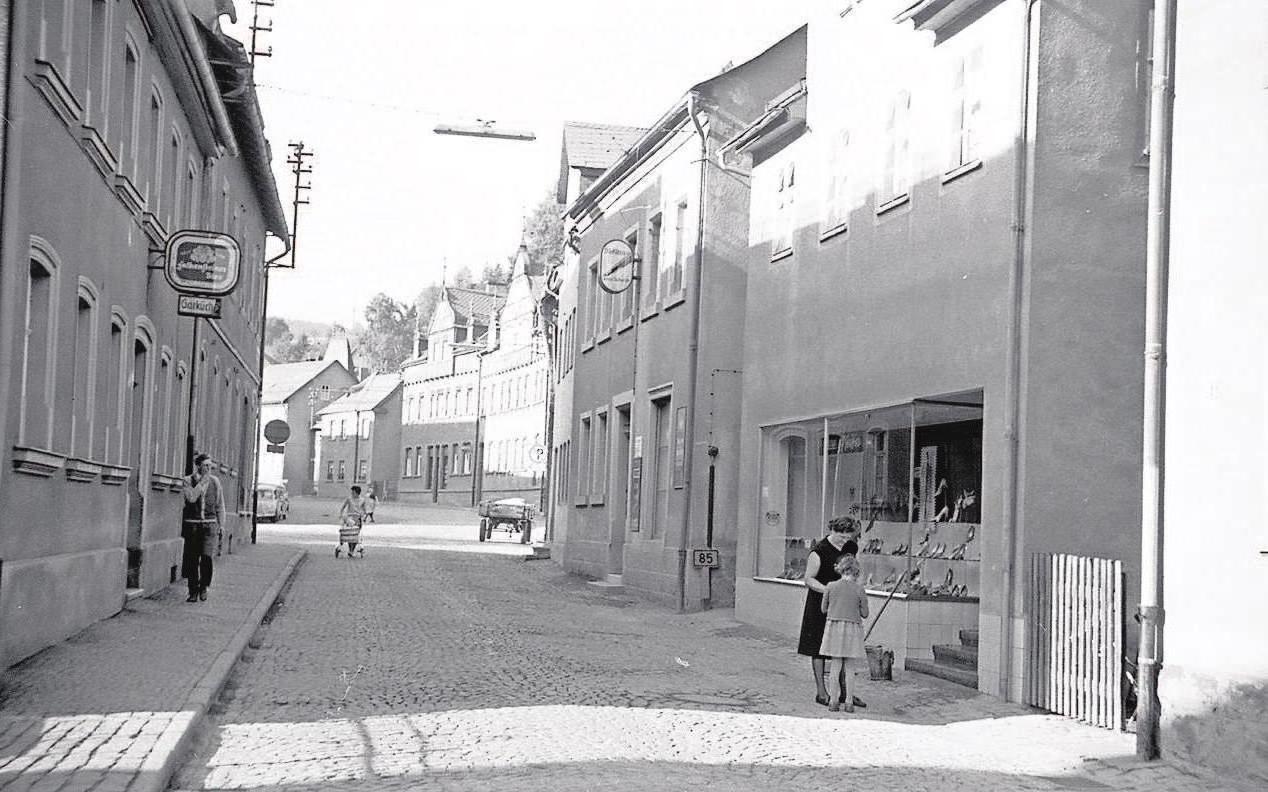 Ortsdurchfahrt um 1960. Foto: Stadtarchiv