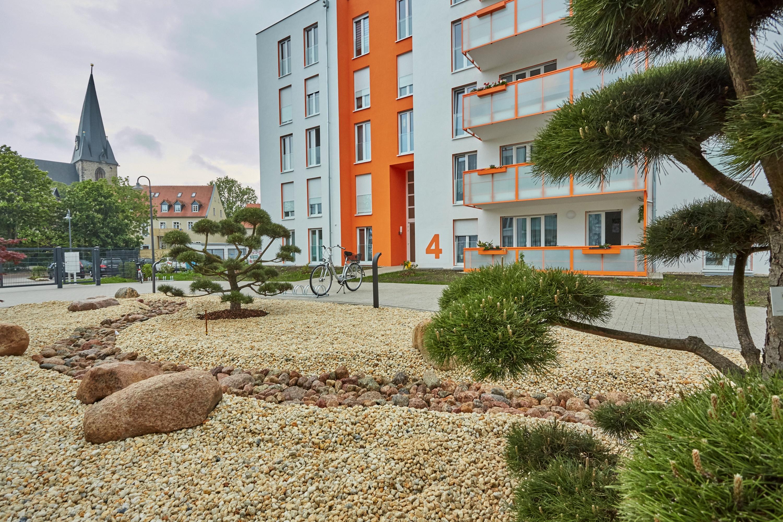 Die neuen Häuser Turmweg 4 und Turmweg 5 umrahmen einen schönen Innenhof. FOTOS: E. PÜLICHER