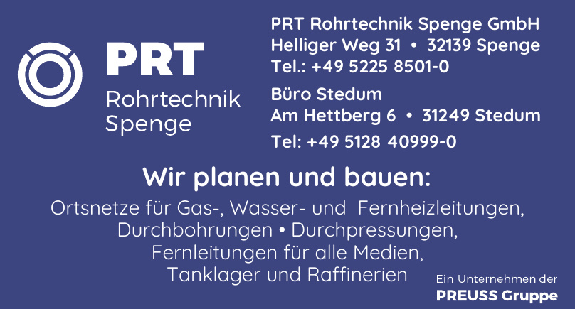 PRT Rohrtechnik Spenge GmbH